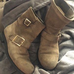 Jimmy Choo brown suede leather boots size 38